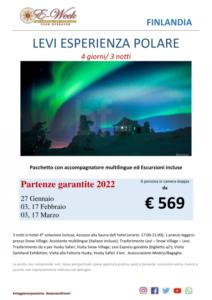 Levi esperienza polare - 27 gennaio 2022 3 e 17 febbraio 2022 03 e 17 Marzo 2022 - ftravelpromoter