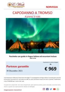 capodanno a Tromson 30 dicembre 2021
